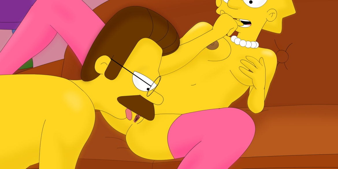 Lisa Simpson Gets Licked by Ned Flanders
