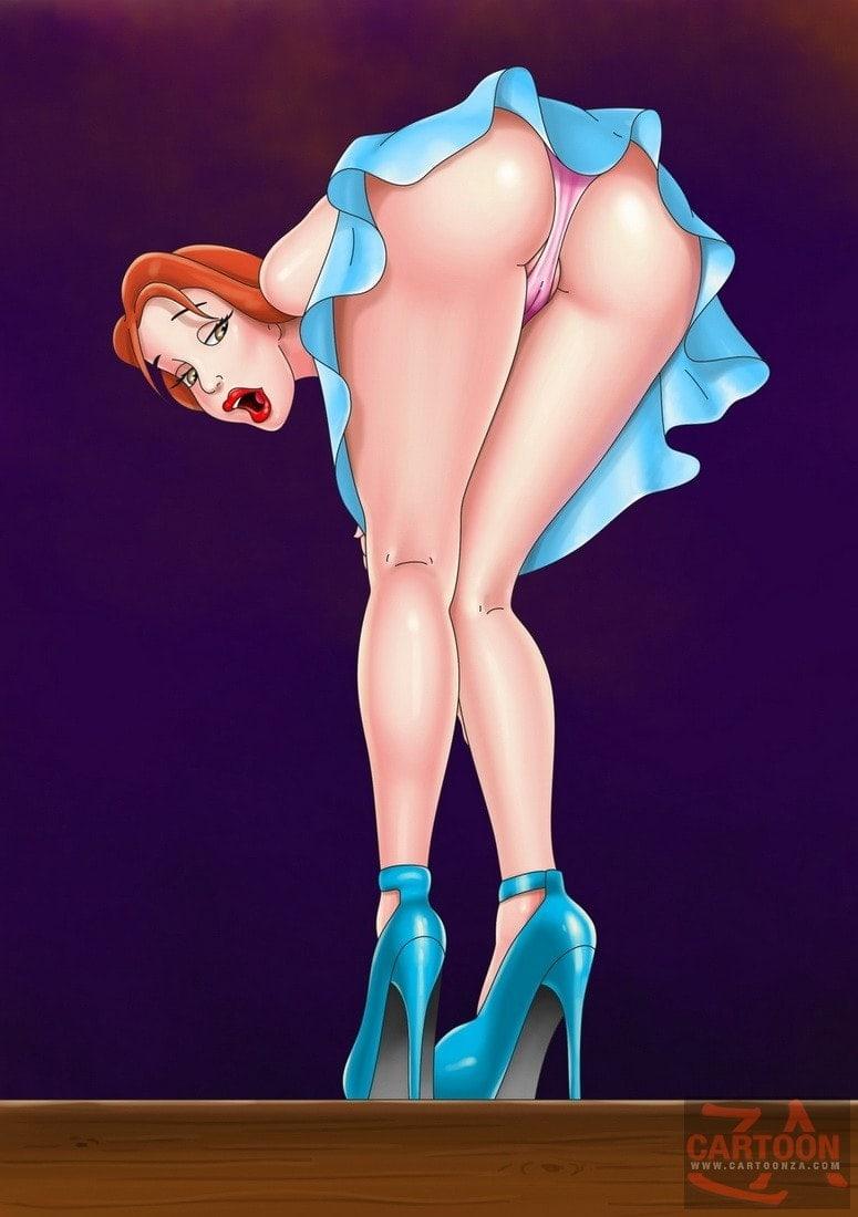 Belle upskirt shot